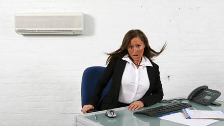 El aire acondicionado de la oficina puede reducir la productividad laboral