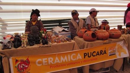 Juliaca: artesanos de Pucará expenden sus productos de cerámica en expoferia