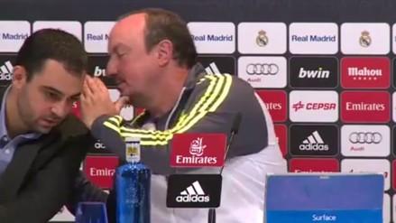 YouTube: Rafa Benítez imitó la escena de Cristiano Ronaldo con Blanc