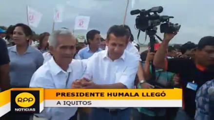 Presidente Ollanta Humala realizó actividades oficiales en Iquitos