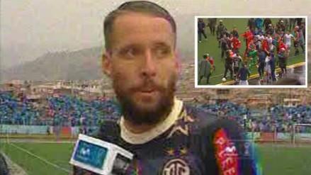 UTC vs. San Martín: Pablo Lavandeira dejó entrevista para irse a pelear