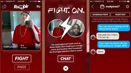 Rumblr, la aplicación que te ayuda a pactar una pelea