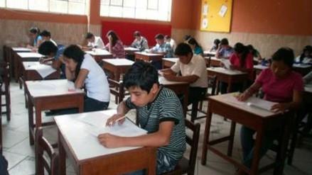 Escolares participan de evaluación censal del Ministerio de Educación