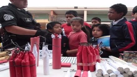 SUCAMEC iniciará campaña para prevenir accidentes por uso de pirotécnicos