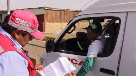 SUTRAN interviene 30 vehículos sin autorización del MTC