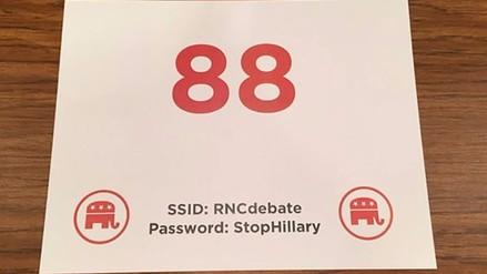 Twitter: contraseña del wifi en debate republicano se hace viral