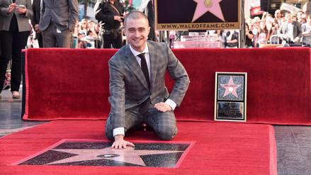 Daniel Radcliffe recibe estrella en el Paseo de la Fama de Hollywood