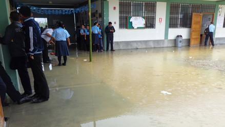 Rioja: dos colegios quedaron inundados por una torrencial lluvia