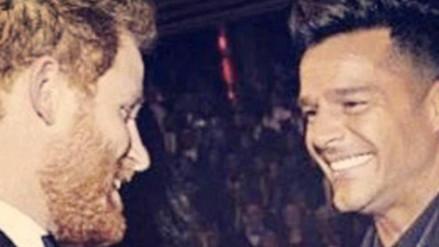 Ricky Martin y el Príncipe Harry quedaron encantados al conocerse