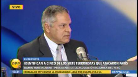 Asociación Islámica del Perú repudia actos terroristas