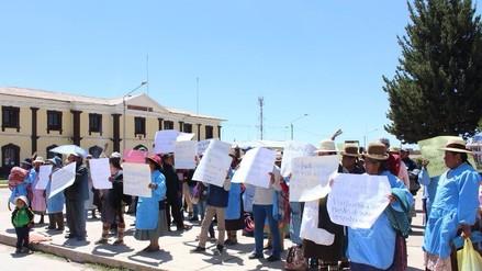 Juliaca: comerciantes ambulantes realizaron plantón en Ministerio Público