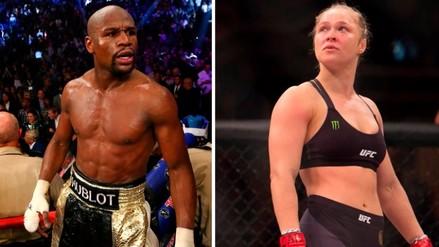 Floyd Mayweather defendió a Ronda Rousey de ataques de fanáticos de la UFC
