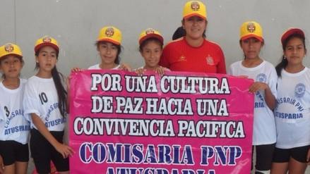 Comisaría PNP lanza academia de vóley para niñas y jovencitas chiclayanas