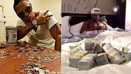 Facebook: Jonathan Maicelo imitó a Floyd Mayweather al posar con su 'fortuna'