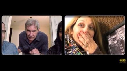 Fans de Star Wars son sorprendidos por Harrison Ford