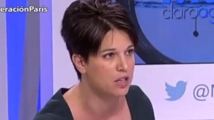 Activista es expulsada de programa de TV por criticar bombardeos en Siria