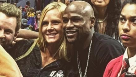 Instagram: Floyd Mayweather y Holly Holm asistieron a un partido de la NBA