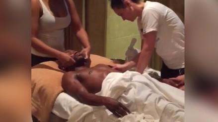 Instagram: Floyd Mayweather y una candente sesión de masajes