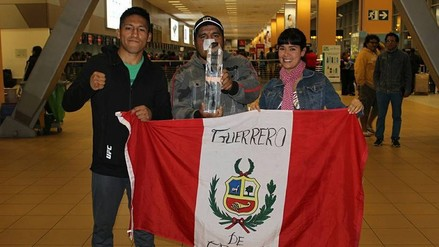 UFC: Enrique Barzola y la bienvenida de su familia y amigos tras la victoria