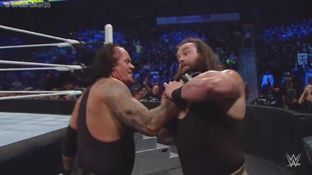 WWE: Undertaker y Kane acabaron a Braun Strowman con una doble garra de ultratumba