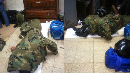 Callao: policías que trabajan en terminal portuario duermen en el piso