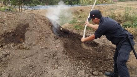PNP destruye dos hornos para producir carbón de algarrobo en La Zaranda