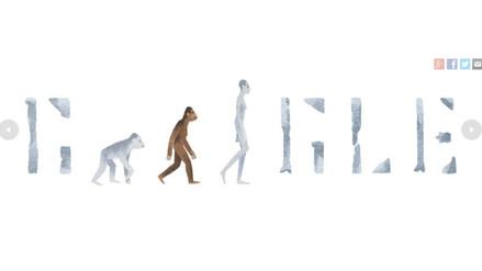 Doodle celebra 41 años del descubrimiento de Lucy, la australopithecus