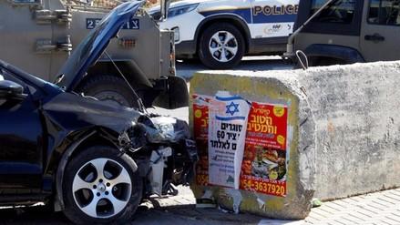 Tres israelíes heridos en presunto atropello intencionado de palestino