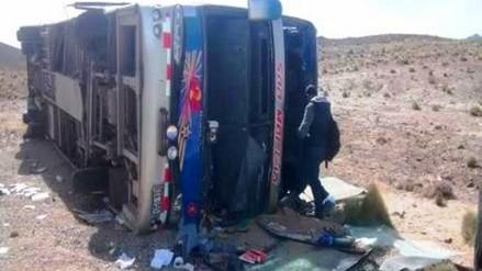 Huamachuco: un muerto y 11 heridos deja despiste de ómnibus