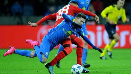 Champions League: Bate de Alexei Ríos no pasa del empate 1-1 con Bayern Leverkusen