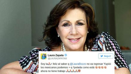Twitter: Laura Zapata se burla de Laura Bozzo