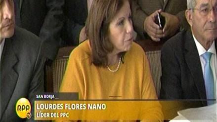 """Lourdes Flores denuncia """"grosera manipulación"""" en comicios del PPC"""