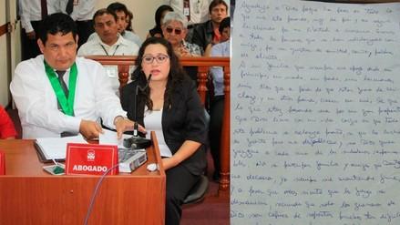 Exfiscal de Tambogrande escribió carta desde Penal de Mujeres