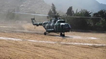Helicóptero aterrizó de emergencia en el distrito de Hualmay