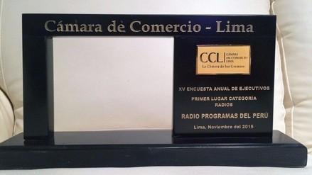 Cámara de Comercio de Lima elige a RPP Noticias como la mejor emisora del 2015