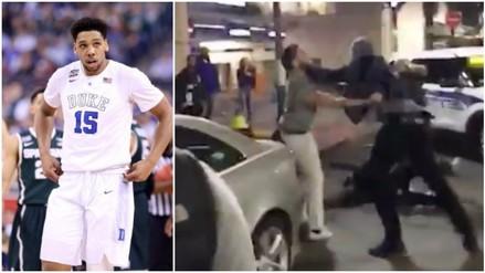 YouTube: estrella de la NBA noqueó a un hincha rival en pelea callejera