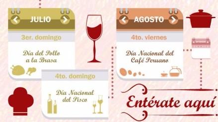 Calendario Gastronómico: Celebra a la comida en su día