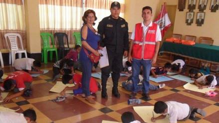 Con actividades lúdicas incentivan a niños de Chongoyape a respetar a sus mayores