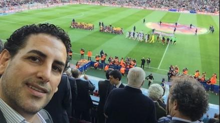Facebook: Juan Diego Flórez fue invitado especial en el Barcelona vs. Real Sociedad
