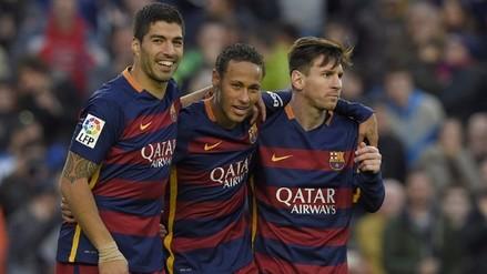 Barcelona goleó 4-0 a Real Sociedad con goles de Messi, Neymar y Suárez