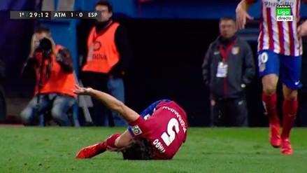 YouTube: Tiago y la escalofriante lesión que preocupa al Atlético Madrid