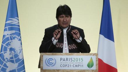 Evo Morales arremete contra el capitalismo en plenario de la COP21