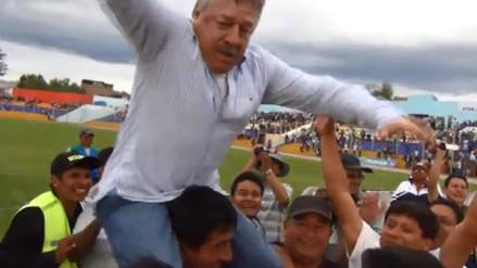 Ayacucho FC se salvó y Edgar Ospina celebró efusivamente con los hinchas (VIDEO)