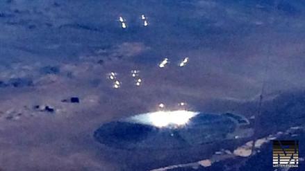 YouTube: fotografían extraño disco metálico cerca del Área 51