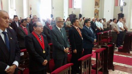 Autoridades participan en misa por el décimo tercer aniversario de Lambayeque