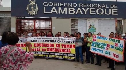 Profesores fiscalizados de Tumán piden mesa de diálogo por pagos