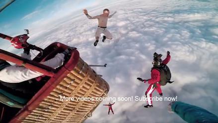 Se lanza desde 4000 metros de altura, sin paracaídas, y vive para contarlo