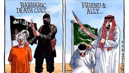 Twitter: comparan a Arabia Saudita con el Estado Islámico