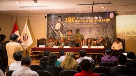 Anuncian actividades para celebrar los 191 aniversario de la Batalla de Ayacucho
