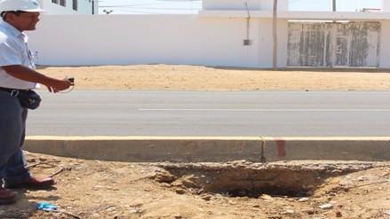 EPSEL detecta que pobladores rompieron pista para conexión clandestina